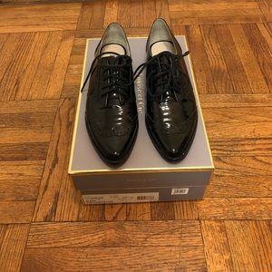 Louise et Cie Black Patent Adelise Oxford Size 5.5
